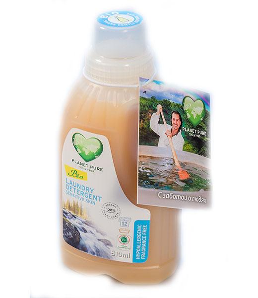 Моющие средства Planet Pure Органическое жидкое средство для стирки Гипоаллергенное 0.5 л
