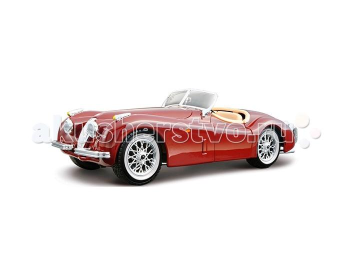 Bburago Машина Jaguar XK 120 Roadster (1951) - BburagoМашина Jaguar XK 120 Roadster (1951)Машина Bburago Jaguar XK 120 Roadster (1951) – это копия настоящего автомобиля с полной детализацией всех частей, 1:24  Игрушка выполнена из высококачественного металла и пластика. Детали и края аккуратно обработаны.   Коллекционные машинки Бураго развивают у ребенка развивают координацию движений и меткость, пространственное и образное мышление, воображение, мелкую моторику. С мини-модельками автомобилей Bburago игра станет настолько увлекательной, что оторваться будет невозможно!   Компания Bburago – мировой лидер в производстве коллекционных моделей автомобилей. Более 30 лет профессиональные дизайнеры Bburago разрабатывают точные копии современных машин и ретро машин известных марок. С автомобилями Bburago можно не только играть, но и сделать их частью своей коллекции!<br>