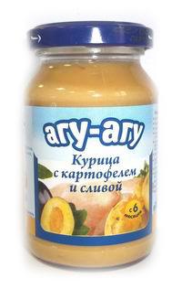 Агу-Агу Пюре Курица с картофелем и сливой с 6 мес. 190 г