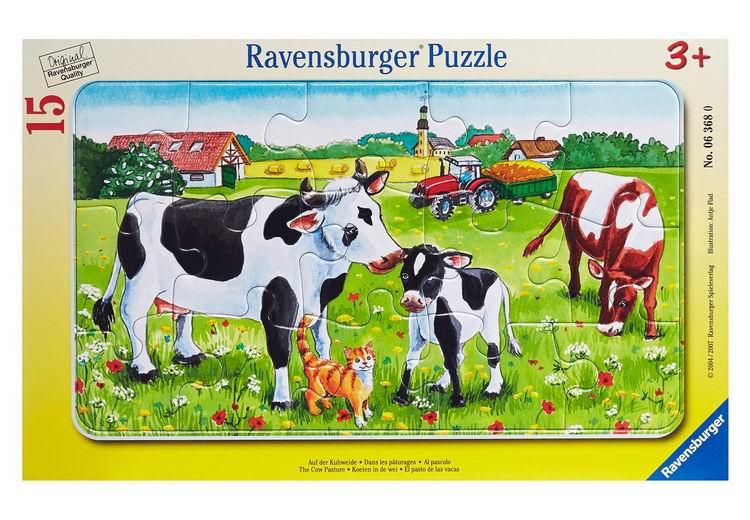 Настольная игра Коровы на лугу. Пазл 15 элементов