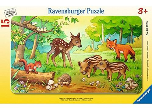 Настольная игра Детеныши животных в лесу Пазл 15 элементов