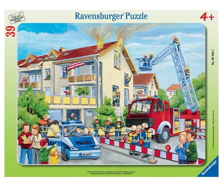 Ravensburger Пазл Пожарные спешат на помощь 39 элементов