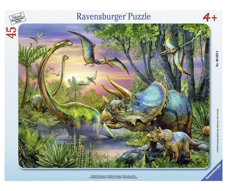 Настольная игра Динозавры на рассвете, Пазл 45 деталей
