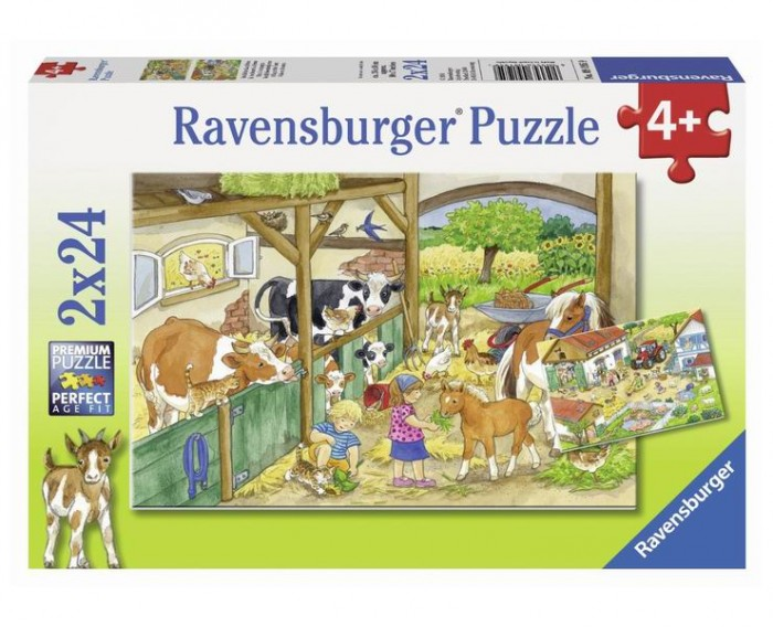 Ravensburger Пазл День на ферме 2х24 элементов