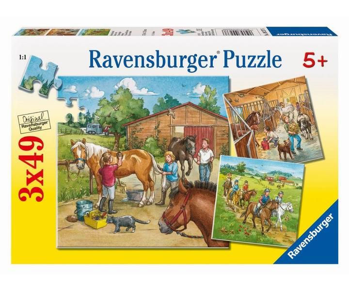 Ravensburger Пазл День на конюшне 3х49 элементов