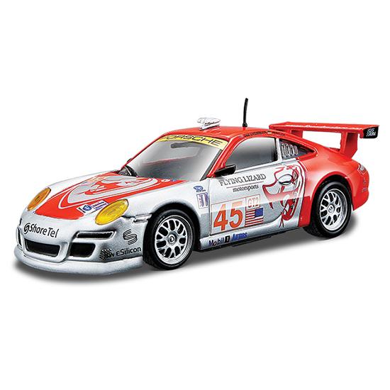 Bburago 1:43 Машина Ралли Porsche 911 GT3 RSR1:43 Машина Ралли Porsche 911 GT3 RSRМашина Ралли Bburago Porsche 911 GT3 RSR  – это копия настоящего автомобиля с полной детализацией всех частей, 1:43  Игрушка выполнена из высококачественного металла и пластика. Детали и края аккуратно обработаны.   Коллекционные машинки Бураго развивают у ребенка развивают координацию движений и меткость, пространственное и образное мышление, воображение, мелкую моторику. С мини-модельками автомобилей Bburago игра станет настолько увлекательной, что оторваться будет невозможно!   Компания Bburago – мировой лидер в производстве коллекционных моделей автомобилей. Более 30 лет профессиональные дизайнеры Bburago разрабатывают точные копии современных машин и ретро машин известных марок. С автомобилями Bburago можно не только играть, но и сделать их частью своей коллекции!<br>
