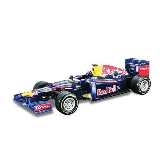 Bburago Машина с ИК пультом Red Bull Формула-1 2012Машина с ИК пультом Red Bull Формула-1 2012Машина с ИК пультом Red Bull Формула-1 2012 – это копия настоящего автомобиля с полной детализацией всех частей, 1:32   Особенности:    ремешок инфракрасного пульта управления имеет 3 положения крепления  для управления машиной на инфракрасном пульте расположен руль и несколько кнопок, дальность действия пульта – 10 м, пульт работает от 4 батареек типа ААА (входят в комплект)  машинка – точная копия гоночного автомобиля команды ФОРМУЛА-1 2012 года в масштабе 1:32  прочный корпус автомобиля предназначен для экстремальных гонок    В комплекте:    1 модель гоночного автомобиля команды MCLAREN ФОРМУЛА-1 2012 года в масштабе 1:32 (цвет серый)  инфракрасный пульт дистанционного управления  4 батарейки типа ААА   Игрушка выполнена из высококачественного металла и пластика. Детали и края аккуратно обработаны.   Коллекционные машинки Бураго развивают у ребенка развивают координацию движений и меткость, пространственное и образное мышление, воображение, мелкую моторику. С мини-модельками автомобилей Bburago игра станет настолько увлекательной, что оторваться будет невозможно!   Компания Bburago – мировой лидер в производстве коллекционных моделей автомобилей. Более 30 лет профессиональные дизайнеры Bburago разрабатывают точные копии современных машин и ретро машин известных марок. С автомобилями Bburago можно не только играть, но и сделать их частью своей коллекции!<br>