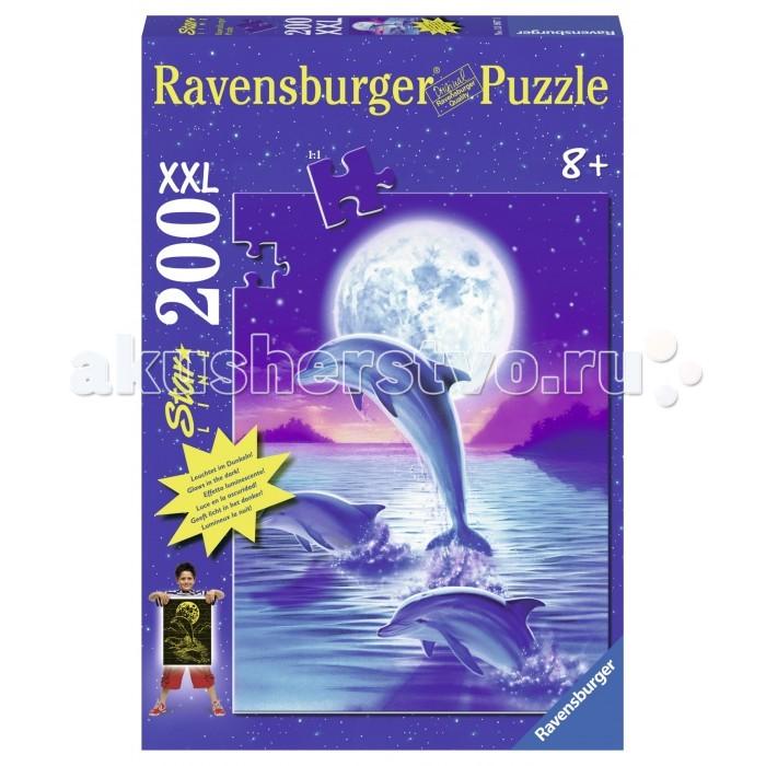 Пазлы Ravensburger Пазл светящийся Дельфины в лунном свете 200 элементов