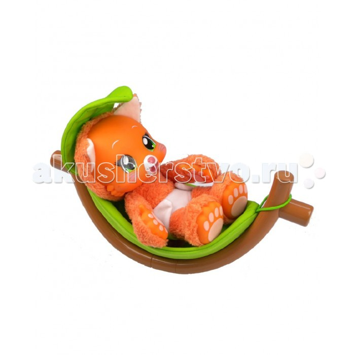 Интерактивная игрушка Zoopy Плюшевый Котенок с гамаком