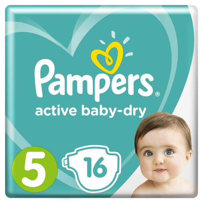 Pampers Подгузники Active Baby Dry Junior р.5 (11-18 кг) 16 шт.