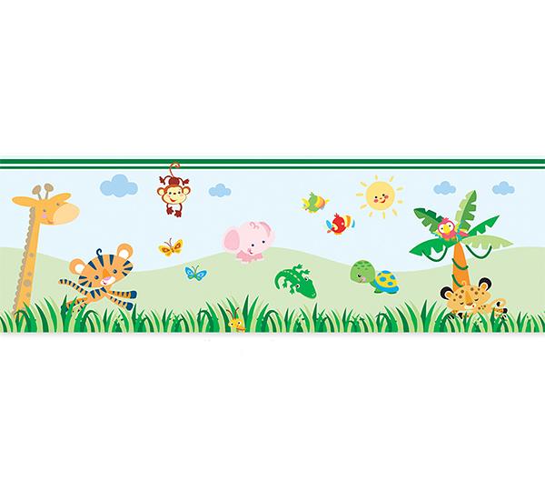 Аксессуары для детской комнаты FunToSee Наклейка-бордюр для обрамления комнаты Тропический лес