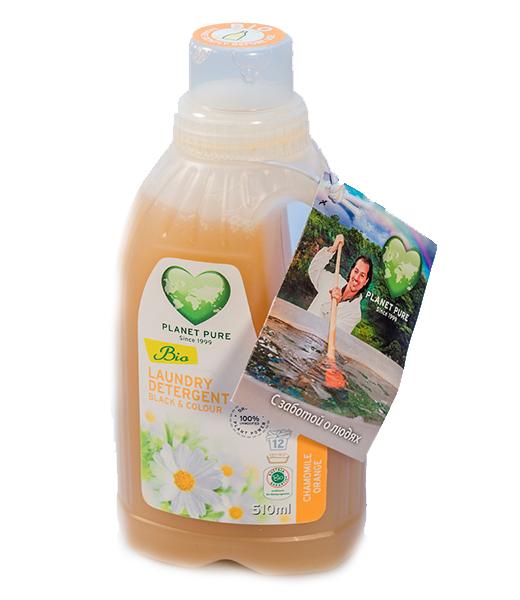 Моющие средства Planet Pure Органическое жидкое средство для стирки черных и цветных тканей 0.5 л
