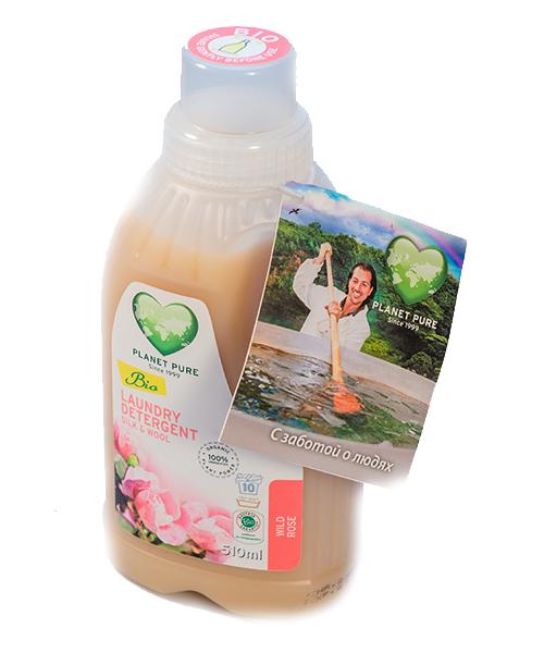 Моющие средства Planet Pure Органическое жидкое средство для стирки шерсти и шелка 0.5 л