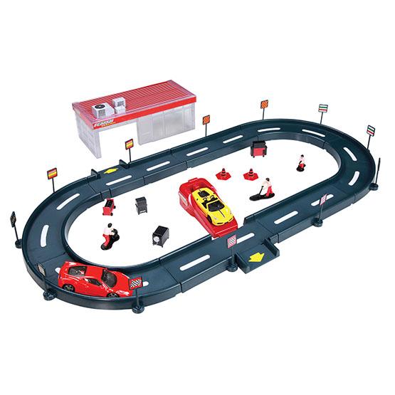 Машины Bburago Трек с гаражом с 1-й машиной