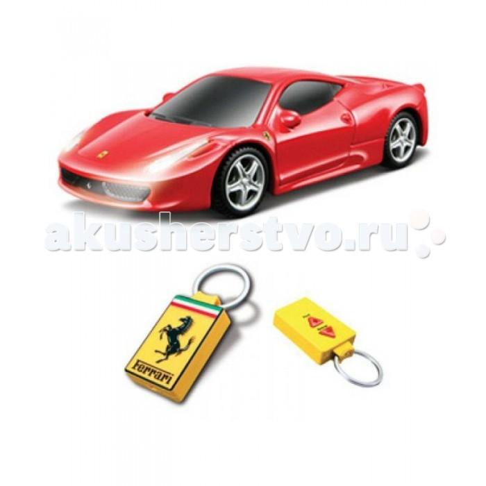 Bburago Машина Ferrari с ИК пультом-брелкомМашина Ferrari с ИК пультом-брелкомМашина Ferrari Bburago с ИК пультом-брелком (вперед, назад с поворотом) в ассортименте – это невероятно интересная игрушка для детей.  Такие машинки прекрасно смотрятся в качестве сувенира взрослому автолюбителю, а дети ими будут играть с неописуемым удовольствием. С такой игрушкой ребенок сможет пойти в садик или на прогулку, а взрослый коллекционер поставит модель на полку и любоваться красивым подарком.  Игрушка выполнена из высококачественного металла и пластика. Детали и края аккуратно обработаны.   Коллекционные машинки Бураго развивают у ребенка развивают координацию движений и меткость, пространственное и образное мышление, воображение, мелкую моторику. С мини-модельками автомобилей Bburago игра станет настолько увлекательной, что оторваться будет невозможно!   Компания Bburago – мировой лидер в производстве коллекционных моделей автомобилей. Более 30 лет профессиональные дизайнеры Bburago разрабатывают точные копии современных машин и ретро машин известных марок. С автомобилями Bburago можно не только играть, но и сделать их частью своей коллекции!<br>