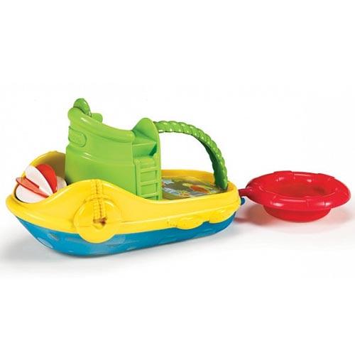 Munchkin Игрушка для ванны Весёлая лодочкаИгрушка для ванны Весёлая лодочкаВаш маленький капитан будет с удовольствием играть этой лодкой, потому что она включает очень много игровых возможностей.   В набор включены плот и 2 забавных брызгалки, которые будут плыть на лодке!   Такую лодку можно запускать в ванной, зачерпывать и процеживать ею воду, тянуть на буксире. Через прозрачное дно лодки можно увидеть настоящих морских обитателей.  Особенности Munchkin Весёлая лодочка: Веселый, увлекательный буксир для хорошего времяпрепровождения в ванной Предполагает несколько вариантов игры Маленьким ручкам малыша легко схватить ручку лодки Помогает развивать зрительно-моторную координацию Подходит для детей от года<br>