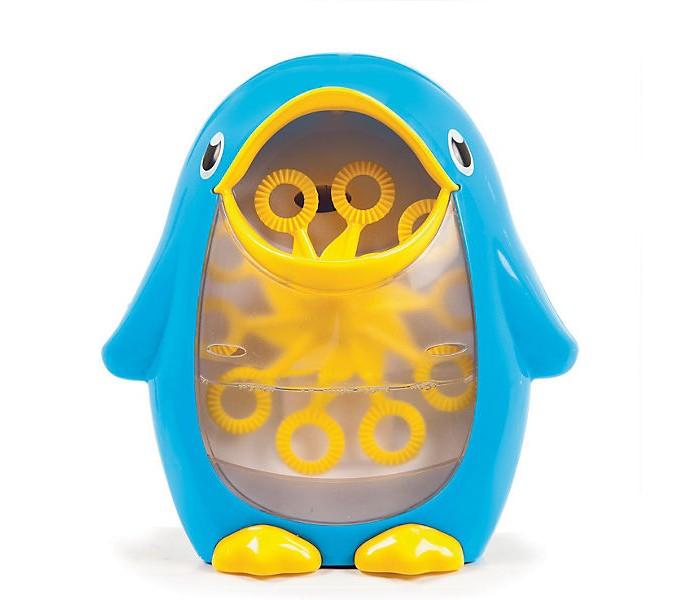 Munchkin Игрушка для ванной Мыльные пузыриИгрушка для ванной Мыльные пузыриИгрушка для ванной Munchkin Мыльные пузыри непременно понравится вашему малышу и превратит купание в веселую игру.   Игрушка выполнена из пластика в виде симпатичного пингвинчика.   Резервуар игрушки наполняется пенным средством. Сверху на пингвине расположена кнопка включения/выключения. При включении десять колечек на палочках вращаются и беспрерывно воспроизводят мыльные пузыри.   Игрушка легко крепится к стене ванной комнаты при помощи присоски.  Порадуйте своего ребенка таким замечательным подарком!  Для работы необходимы 2 батарейки типа АА (LR6) ( не входят в комплект )<br>