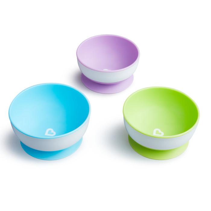 Посуда Munchkin Набор детских тарелок на присосках 3 шт.