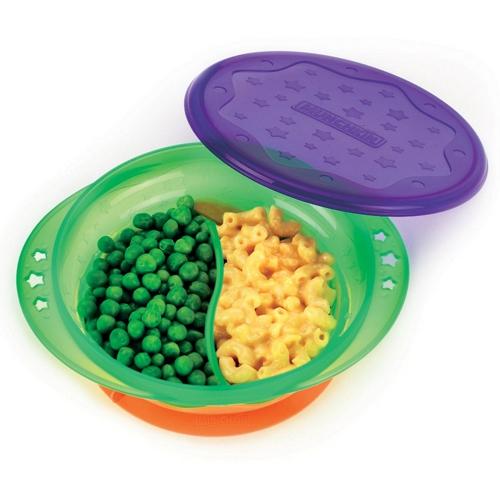 Посуда Munchkin Тарелка детская двухсекционная на присоске с крышкой