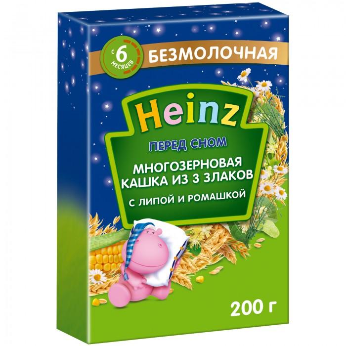 Heinz Безмолочная Многозерновая каша из 3 злаков с липой и ромашкой Перед сном c 6 мес., 200 гр.