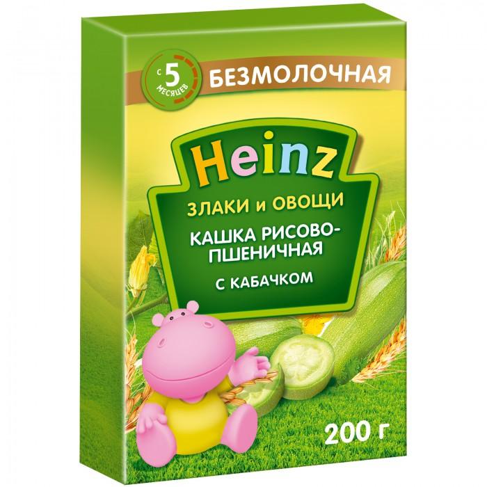 Heinz Безмолочная Рисово-пшеничная каша с кабачками с 5 мес,. 200 г