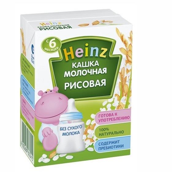Heinz Молочная готовая рисовая каша с 6 мес., 200 мл