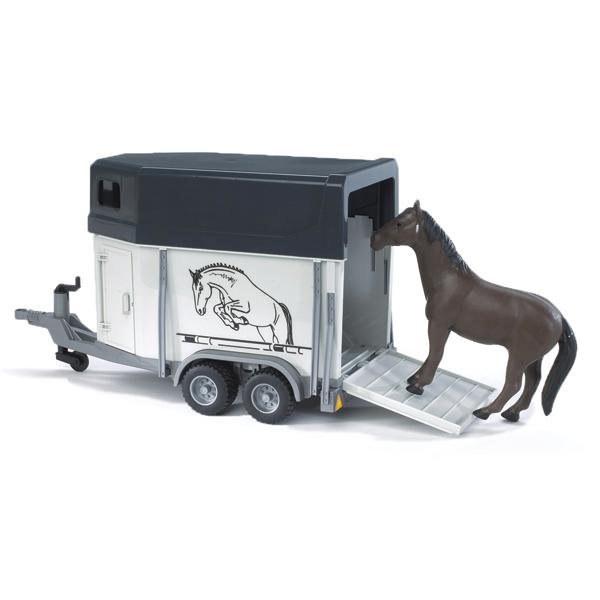 Bruder Прицеп-коневозка с лошадью