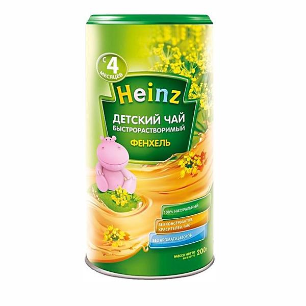 Heinz Чай гранулированный детский фенхель  4 мес., 200 гр.