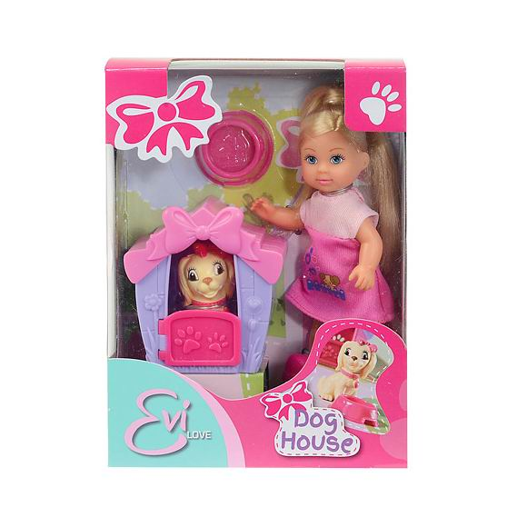 Куклы Simba Еви с собачкой в домике