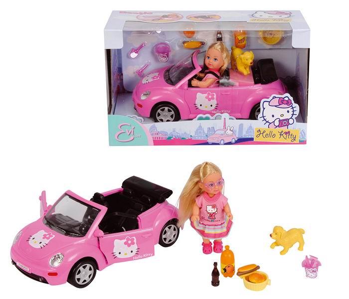 Куклы Simba Еви на машине с собачкой