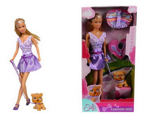 Simba Кукла Штеффи с собачкой