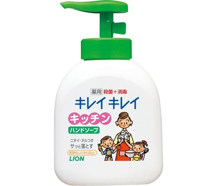 Lion Жидкое мыло для рук Kirei Kirei антибактериальное для кухни 250 мл