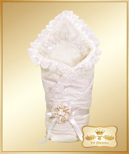 Конверты на выписку VIP Persona Конверт-одеяло на выписку Перламутровая Роза 12-059а