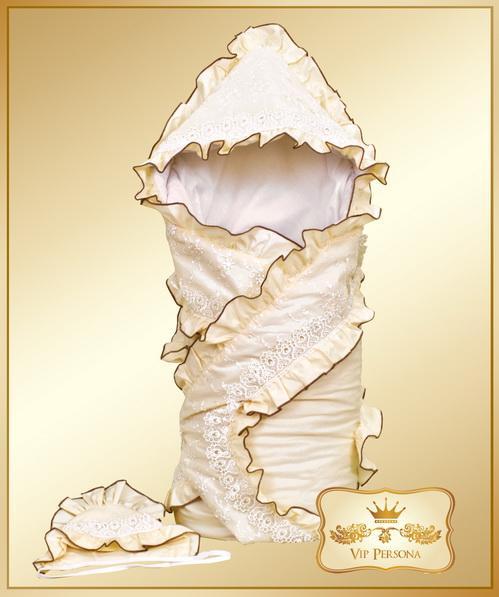 Конверты на выписку VIP Persona Конверт-одеяло на выписку с капором 12-026а
