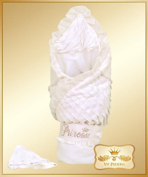 Конверты на выписку VIP Persona Конверт-одеяло на выписку Princess 12-064а