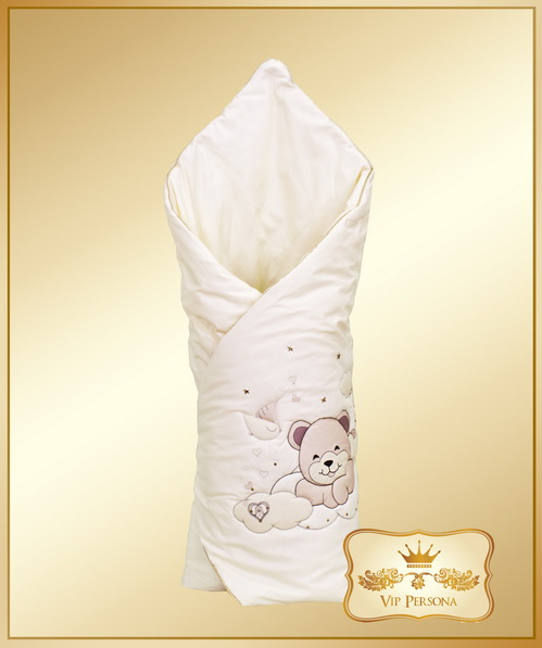 Конверты на выписку VIP Persona Конверт-одеяло на выписку Медведь 12-075а