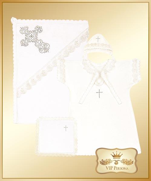 Крестильная одежда VIP Persona Комплект для крещения 13-039 (4 предмета)