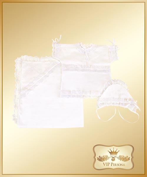 Крестильная одежда VIP Persona Комплект для крещения 13-003 (3 предмета)