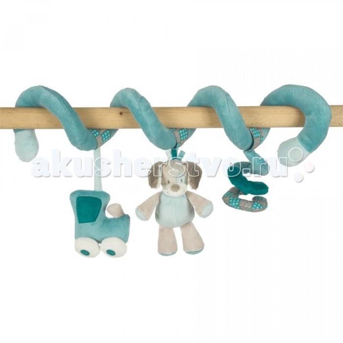 Nattou Toy spiral Gaston &amp; Cyril Лошадка и СобачкаToy spiral Gaston &amp; Cyril Лошадка и СобачкаПодвеска-спираль для малышей. Легко крепится на бортах кровати, детских стульчиках и любых горизонтальных планках. В комплекте три мягкие подвесные игрушки. Способствует развитию мелкой моторики и воображения.<br>