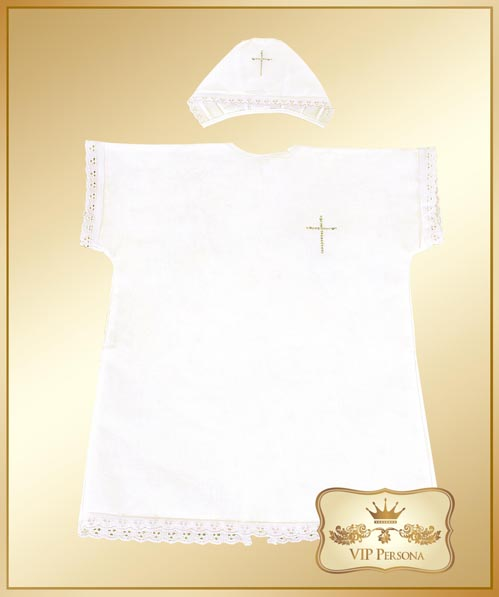 Крестильная одежда VIP Persona Комплект для крещения 13-031 (2 предмета)
