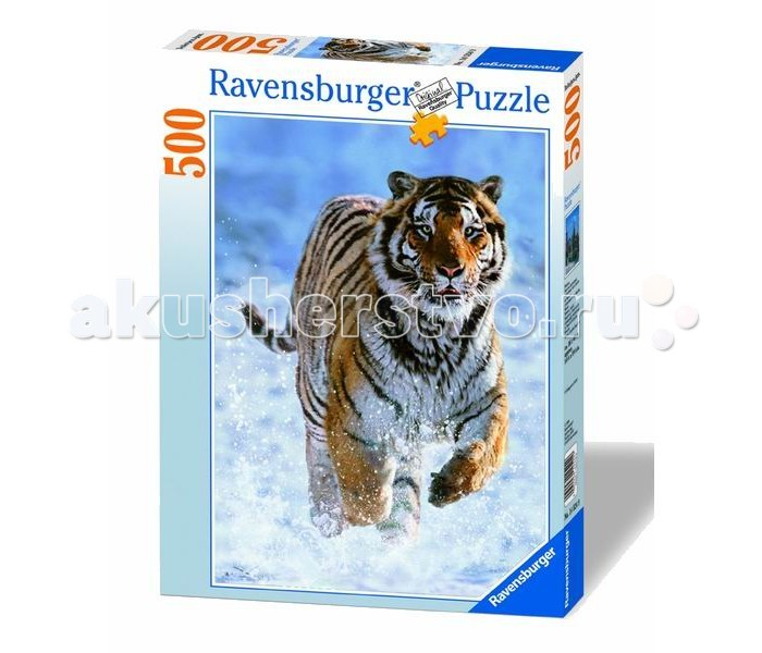 Ravensburger Пазл Тигр на снегу 500 элементов