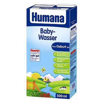 Вода Humana Вода детская питьевая 0,5 л, с рождения