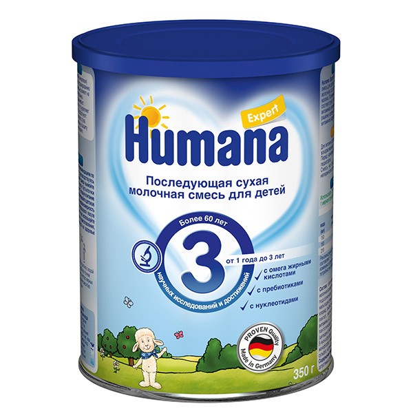 Humana Заменитель Expert 3 от 1 года до 3-х лет 350 г