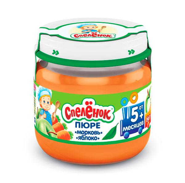 Спеленок Пюре Морковь яблоко с 5 мес. 80 г