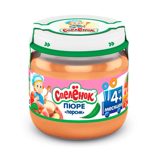Спеленок Пюре Персик с 4 мес. 80 гПюре Персик с 4 мес. 80 гСпеленок Пюре Персик с сахаром – лёгкий и питательный продукт, в состав которого входят органические кислоты, витамины группы В, минеральные вещества, &#946; - каротин и пектиновые вещества.  Особенности: Детское пюре из спелых персиков имеет приятный нежный вкус Наличие пищевых волокон способствует профилактике запоров у маленького ребёнка Хранить при температуре от 0°С до +25°С и относительной влажности воздуха не более 75%. После вскрытия упаковки хранить в холодильнике не более суток при температуре от +2°С до +6°С  Состав:  Пюре из персиков Вода Сахар<br>