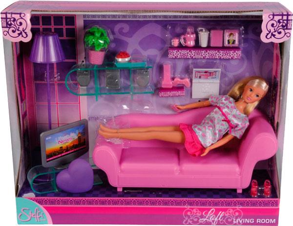 Кукольные домики Simba Штеффи в гостиной + аксессуары