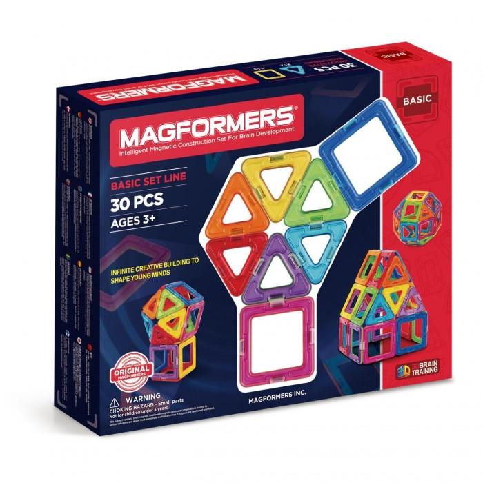 Конструктор Magformers Магнитный Rainbow 30 63076Магнитный Rainbow 30 63076Магнитный конструктор Magformers Rainbow 30 63076 Набор радуга.  Мальчишки могут создать ракету или гараж, девчонкам будет интересно попробовать себя в качестве творца домика для своей любимой куклы или необычной дизайнерской сумочки.   Каждый может почувствовать себя модельером и придумать необычный головной убор, будь то смешная шапка или пионерская пилотка. Набор идеально для этого подойдет - все детали разноцветные и их количества хватит для того, чтобы проявить фантазию ребенка.  Магнитные конструкторы Magformers представляют собой разные по цвету и геометрической форме магнитные рамки, в которые вставлены сбалансированные магниты. Это позволяет деталям легко и быстро присоединяться, позволяет строить большие объемные модели за очень короткое время.  Каждая деталь является правильно выполненной геометрической фигурой: треугольник, квадрат, трапеция, пятиугольник, шестиугольник, прямоугольник и т.д.  Все детали магнитных конструкторов Magformers крупные, изготовлены из высококачественного пластика, который является абсолютно безопасным даже для самых маленьких строителей.  Magformers — лучшая трехмерная игрушка для развития воображения, пространственного мышления и общих мыслительных способностей. Дети могут превращать плоские предметы в объёмные, изучать принципы магнетизма.  Все наборы конструктора Magformers совместимы – это будет огромный простор для творчества и воображения!  Набор содержит 30 элементов: - 12 треугольников - 18 квадратов.  Материал: высококачественный пластик, магнит  Длина каждой стороны детали: 5 см Размеры упаковки: 29 х 23 х 5 см<br>