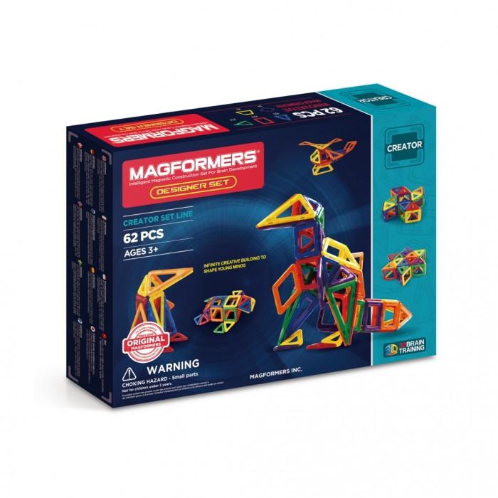 Конструктор Magformers Магнитный Designer Set 63081Магнитный Designer Set 63081Магнитный конструктор Magformers Designer Set 63081 предназначен для детей, которые хорошо эрудированны и развиты (возраст не является основным критерием для магнитных конструкторов Magformers). Набор позволяет ребенку строить поистине потрясающие вещи, как из мира техники (самолет, вертолет, кран, экскаватор), так и из мира архитектуры (дома, замки).  Возможность замены одних деталей другими (ромб на 2 треугольника, 3 ромба на шестиугольник и т.д.) позволяет ребенку изучать и моделировать геометрические фигуры, воплощать оригинальные идеи в жизнь, превращать мир из плоского в объемный.  Несмотря на то, что набор ориентирован в первую очередь на более старших детей, малышам он тоже понравится. Как и все другие наборы, он содержит в себе базовые детали - треугольники и квадраты, причем их количества с лихвой хватит для построения всевозможных фигур - домиков, башен, волшебного шара и многого другого. А уже по мере развития вашего ребенка вы сможете добавить ромбы, трапеции и длинные треугольники и сделать игру интереснее и насыщеннее.<br>