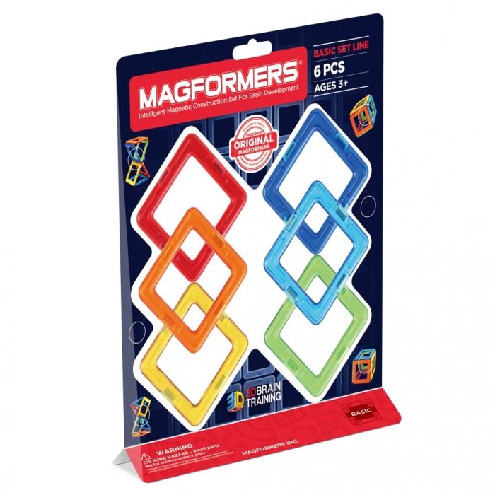 Конструктор Magformers Магнитный Квадраты 6 63086Магнитный Квадраты 6 63086Магнитный конструктор Magformers Квадраты 6 63086 самый маленький из наборов. Может дать ребенку первичные представления о конструкторе Magformers, геометрии и магнетизме.   Малыш сможет научиться создавать фигуры на плоскости, выстраивать магниты в линию. При помощи квадратов Magformers он сможет выучить в процессе игры базовые цвета, узнает, что такое куб и как его сделать. Подходит как дополнение к уже имеющимся наборам.  Магнитные конструкторы Magformers представляют собой разные по цвету и геометрической форме магнитные рамки, в которые вставлены сбалансированные магниты. Это позволяет деталям легко и быстро присоединяться, позволяет строить большие объемные модели за очень короткое время.  Каждая деталь является правильно выполненной геометрической фигурой: треугольник, квадрат, трапеция, пятиугольник, шестиугольник, прямоугольник и тд.  Все детали магнитных конструкторов Magformers крупные, изготовлены из высококачественного пластика, который является абсолютно безопасным даже для самых маленьких строителей.  В набор входит: 6 квадратов.  Длина каждой стороны детали: 5 см Материал: высококачественный пластик, магнит Размер упаковки: 23,5 х 25 х 6 см Упаковка: блистер Вес: 150 г<br>