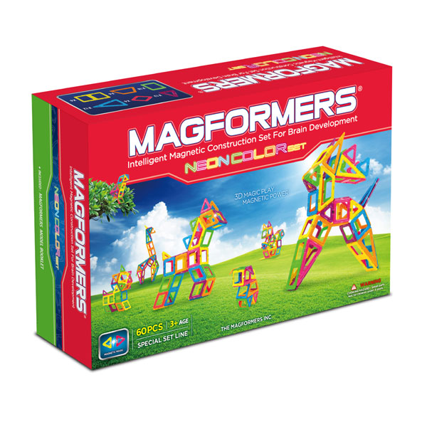 ����������� Magformers ��������� Neon Color Set 60 63110